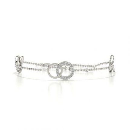 Pave Setting Round Diamond Delicate Bracelet