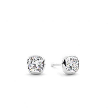 Bezel Setting Diamond Stud Earrings