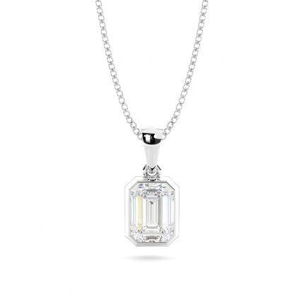 Bezel Setting Diamond Solitaire Pendant
