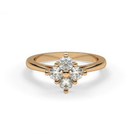 4 Prong Setting Cluster Diamond Ring