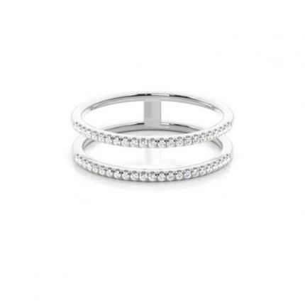Illusion Setting Round Diamond Promise Ring