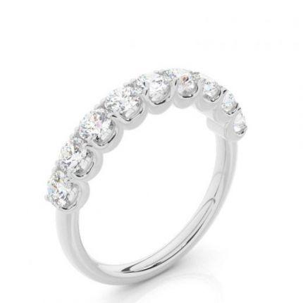 4 Prong Setting Half Eternity Diamond Ring