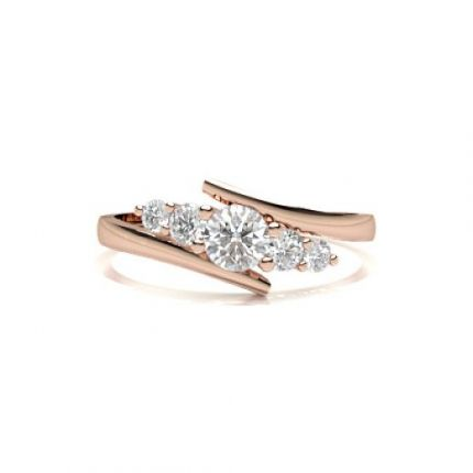 Prong Setting Five Stone Ring