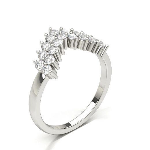 Womens Diamond Shaped Band