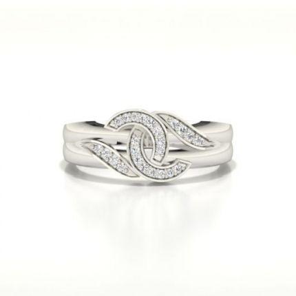 Channel Setting Round Diamond Fashion Ring