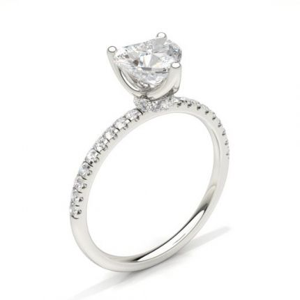 4 Prong Setting Solitaire Engagement Ring