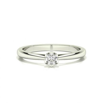 6 Prong Setting Round Diamond Engagement Ring