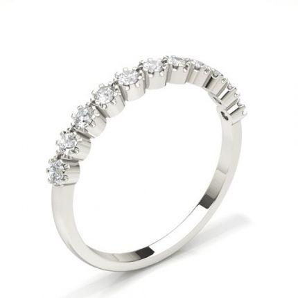 Prong Setting Half Eternity Diamond Ring