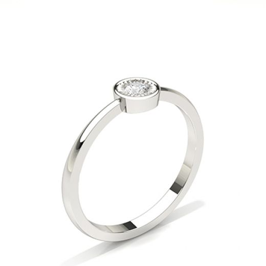 IP Plate Set Round Diamond Solitaire Engagement Ring